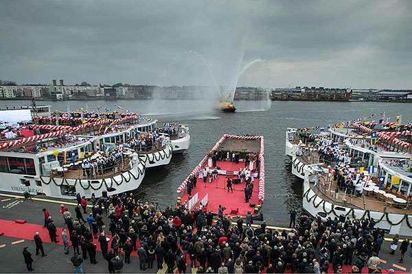 Viking River Cruises smashes world record – inaugurates most new ships in a single day