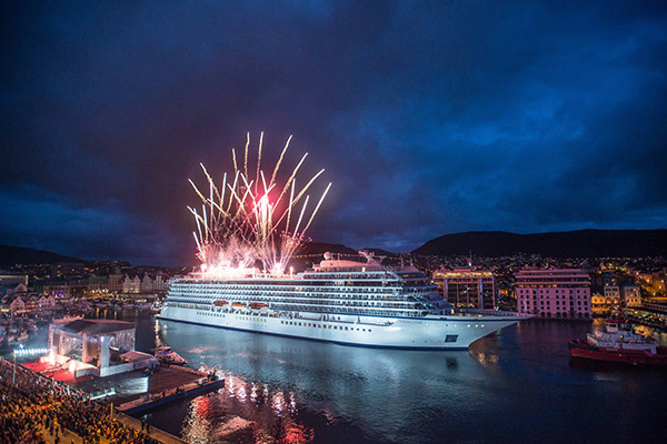 Viking Star christened in homeport Bergen